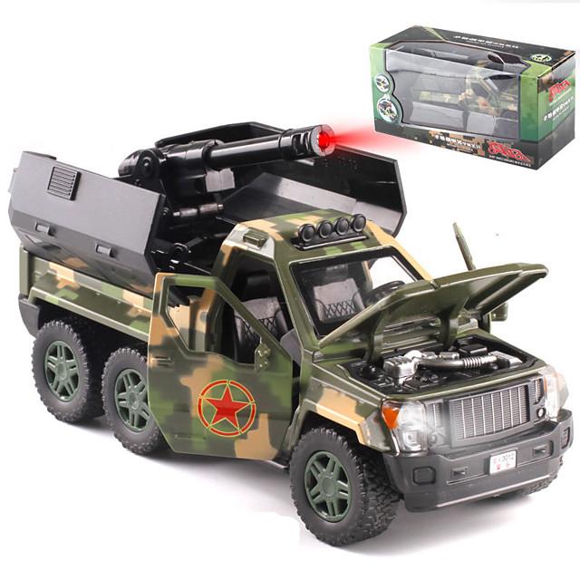 Alliage SUV Camion lance-missiles Petites Voiture Véhicules à Friction Arrière Simulation Musique et Lumière Tous Enfants Adultes Jouets de voiture