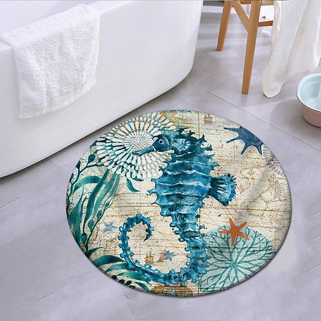 baby zeepaardje in de oceaan ronde type mat tapijt deurmat slaapkamer woonkamer tapijt studeerkamer tapijt keuken badkamer antislip mat