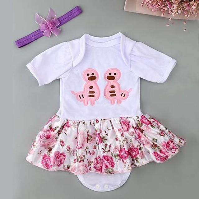 Vêtements de poupées bébé Reborn Accessoires pour poupées Reborn Tissus pour poupée Reborn 20-22 pouces Ne pas inclure la poupée Reborn Doux Pur fait main Fille 2 pcs