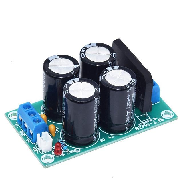 pw28 kettős teljesítményszűrő teljesítményerősítő tábla egyenirányító nagy áramú 25a lapos híd szabályozatlan tápegység tábla barkács