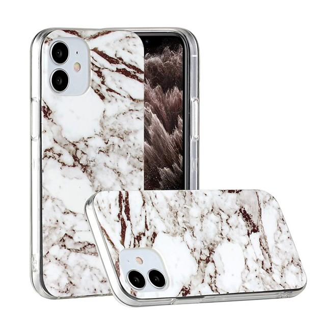 מגן עבור Apple אייפון 12 / אייפון 12 מיני / אייפון 12 פרו מקס אולטרה דק / תבנית כיסוי אחורי שיש TPU