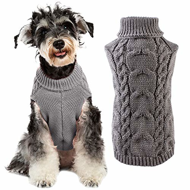koiran neulepusero - lemmikkikoiran neulepusero vaatteet pennunvaatteet talven pehmeä lämmin villapaita neuleet pienille keskisuurille koiranpennuille