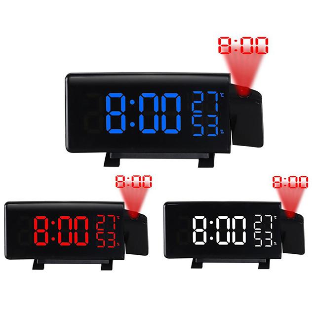 TS-5210 projection LED réveil nouvelle horloge numérique créative avec radio snooze et minuterie LED affichage de la température radio fm et trois couleurs