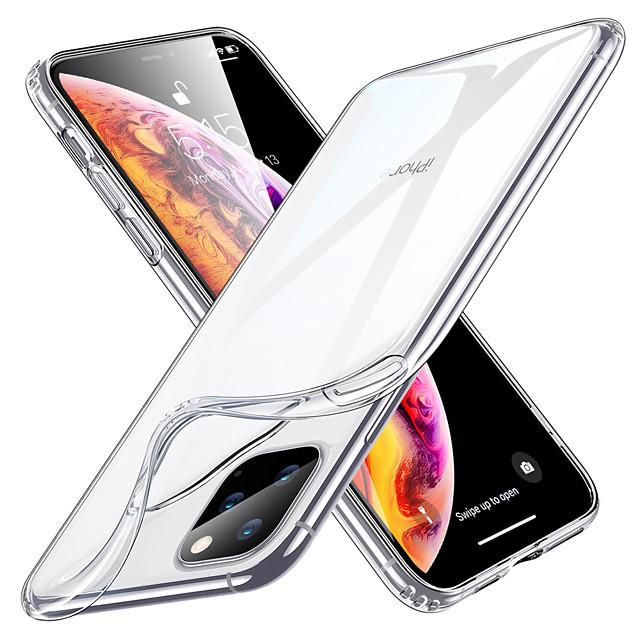 غطاء من أجل Apple آيفون 12 / آيفون 12 ميني / آيفون 12 برو ماكس نحيف جداً / شفاف غطاء خلفي شفاف TPU