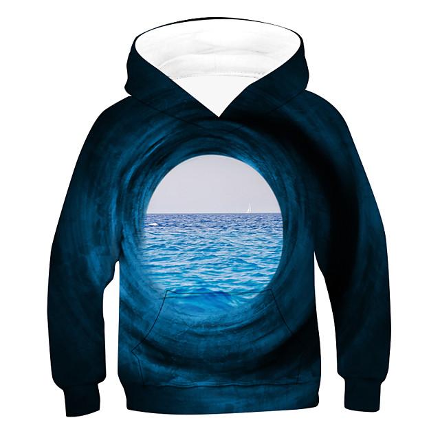 Kinderen Jongens Hoodie & Sweatshirt 3D Lange mouw Actief Zwart