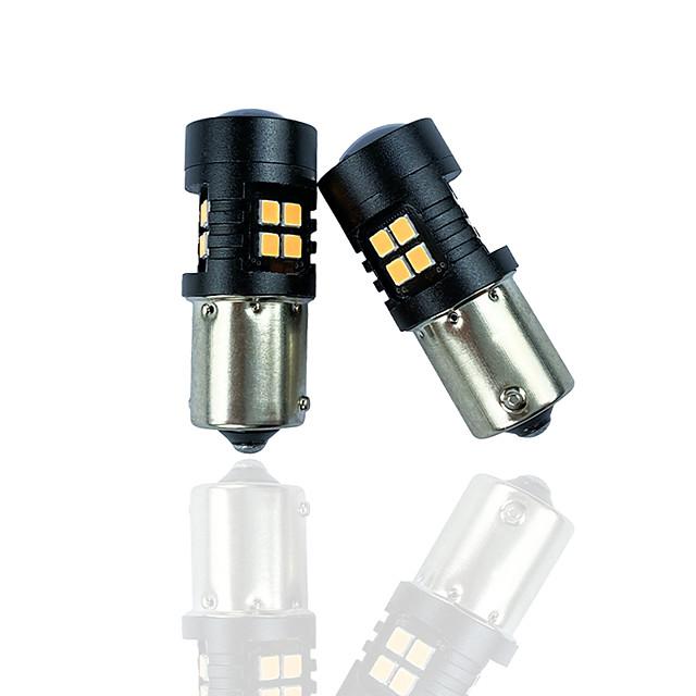 otolmpara 2 pièces haute puissance16w voiture 1156 LED clignotant spécial pour hyundai kona / veloster / santa fe / accent / accent / mitsubishi mirage / diamante voiture can-bus ampoule led bau15s