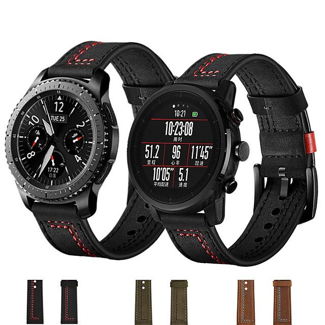 samsung galaxy smart strap watch 46mm 42mm náramek watchband 22mm 20mm kožený řemínek kožený řemínek pro huawei watch gt2