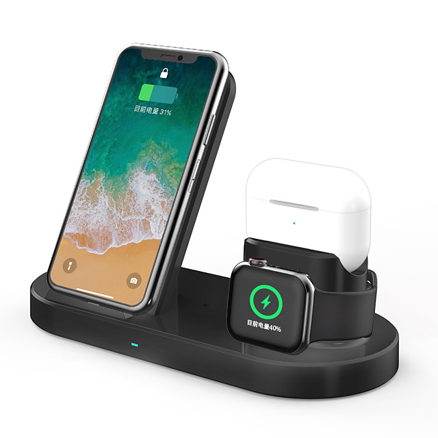 3 в 1 быстрое беспроводное зарядное устройство док-станция быстрая зарядка для iphone apple watch 2 3 4 5 airpods pro