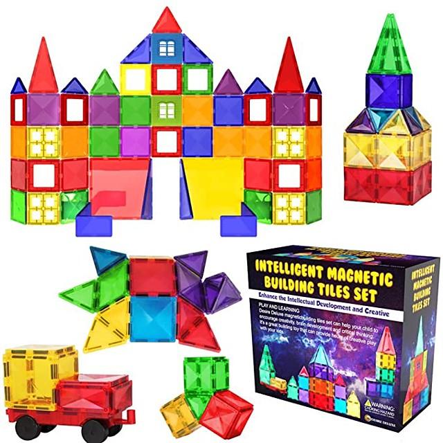 Magnetische tegels Bouwblokken 3D magnetische blokken Bouwstenen 55 pcs STEAM speelgoed geometrisch patroon Leerzaam Speelgoed bouwen Allemaal Speeltjes Geschenk / Kinderen