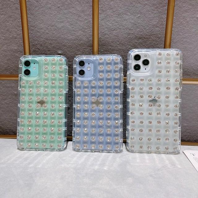 Θήκη Za Apple iPhone 12 / iPhone 12 Mini / iPhone 12 Pro Max Otporno na trešnju / Štras Stražnja maska Prozirno TPU