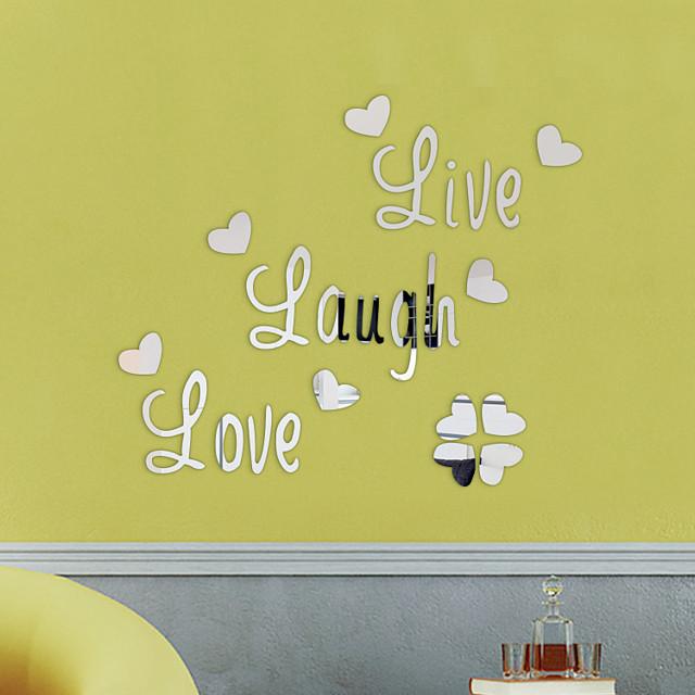 leef, lach, liefde, muursticker motiverende muurstickers, familie inspirerende muurstickers wanddecoratie 1 st