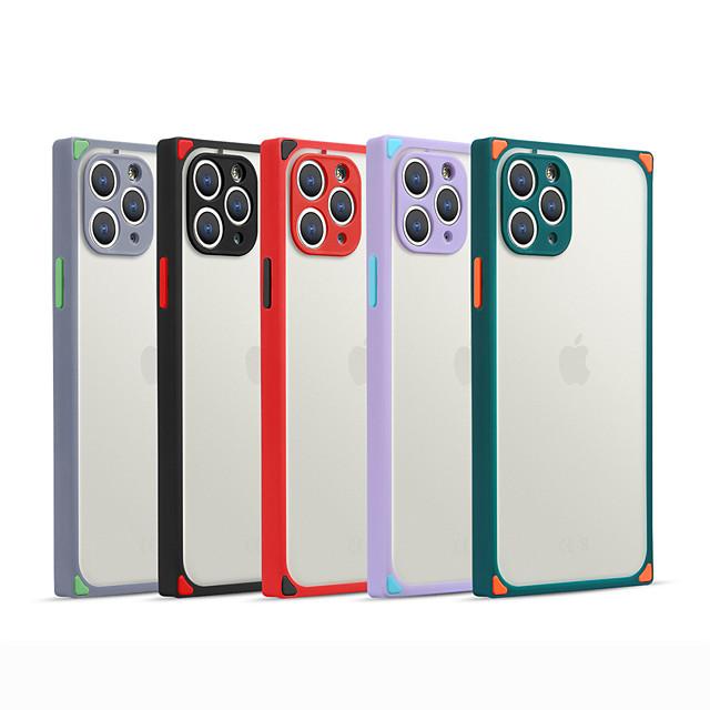 Кейс для Назначение Apple iPhone 12 / iPhone 12 Mini / iPhone 12 Pro Max Защита от удара / Матовое Кейс на заднюю панель Однотонный ТПУ