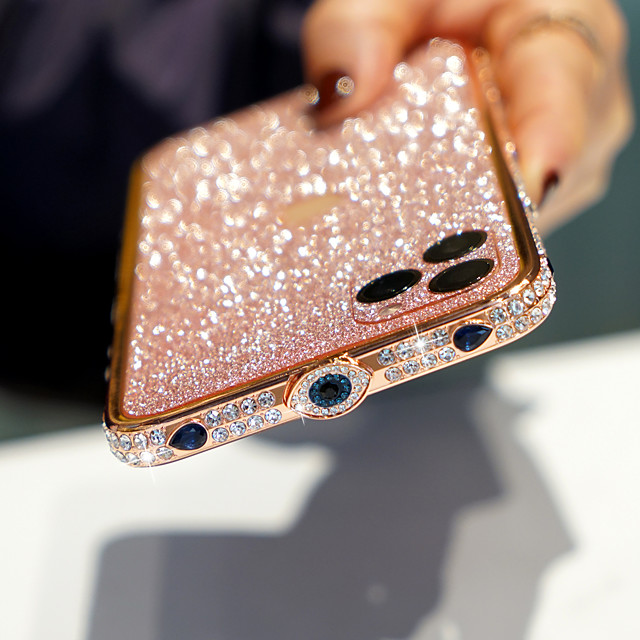 Funda Para Apple iPhone 11 / iPhone 11 Pro / iPhone 11 Pro Max Diamantes Sintéticos / Brillante Funda Trasera Brillante TPU