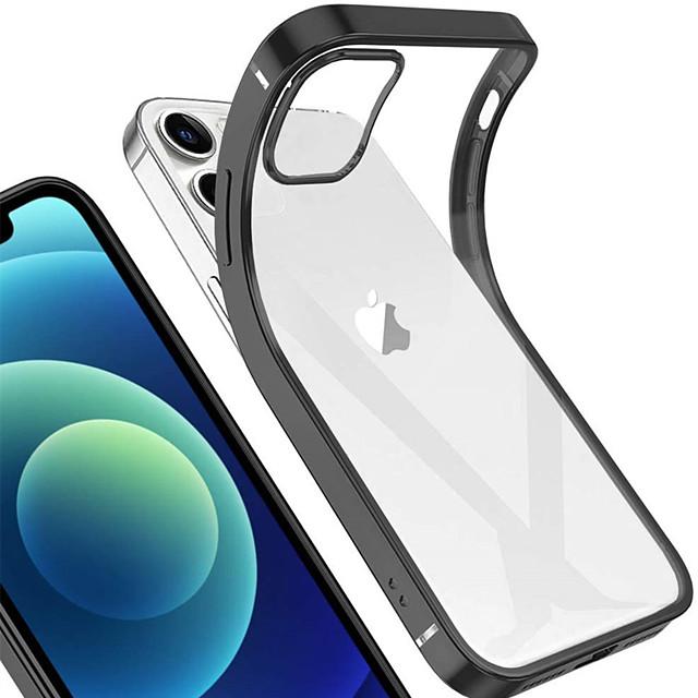 Кейс для Назначение Apple iPhone 12 / iPhone 12 Mini / iPhone 12 Pro Max Покрытие Кейс на заднюю панель Однотонный ТПУ