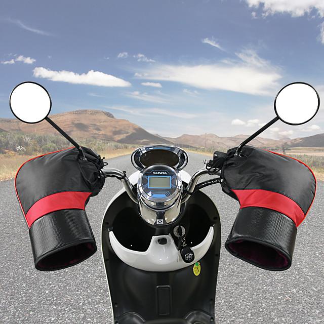 دراجة نارية المقود الدافئة المقود قفاز الشتاء مقاوم للبرد دافئ قفاز دافئ الثلج يندبروف الدافئة المقود غطاء بدون شريط عاكس