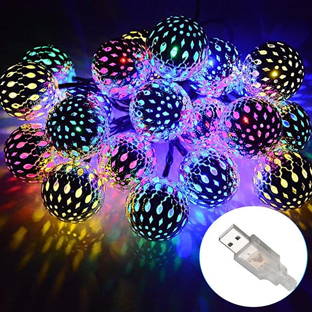 εξωτερικά χριστουγεννιάτικα φώτα σκελετό μεταλλικό μαροκινό φωτισμό 10-50 leds αδιάβροχο σχοινί φώτα aa κουτί μπαταρίας ή usb τροφοδοσία με κορδόνια για πάρτι γάμου εσωτερικών Χριστουγέννων dc5v
