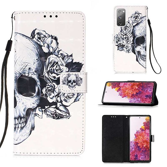Case For Samsung Galaxy S20 Plus / S20 Ultra / S20 Wallet / Card Holder / with Stand Full Body Cases Skull PU Leather