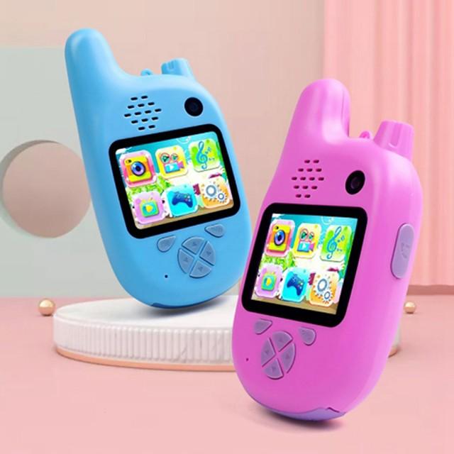 mwz enfants talkie-walkie caméra caméscope mini vidéo hd jouets talkie-walkie caméscope lecteur de musique mp3 jeu meilleur cadeau pour les enfants