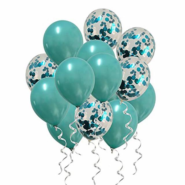 البالونات المعدنية البط البري النثار بالونات الفيروز لاستحمام الطفل زينة حفل زفاف وعيد ميلاد