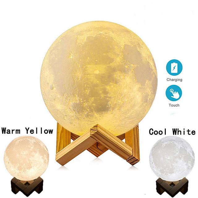 Impression 3D lampe de lune enfants veilleuse tactile changer la lumière de la galaxie comme cadeaux