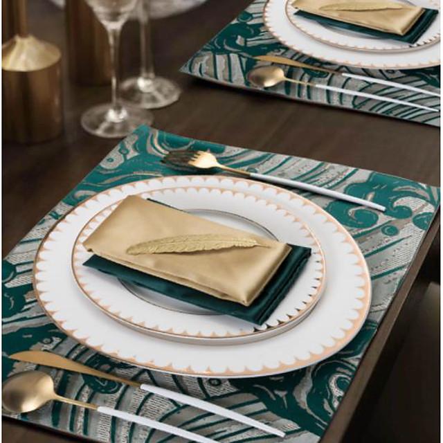 4db könnyű luxus jacquard alátét csúszásgátló szigetelő asztali alátét alátét 30 * 45cm