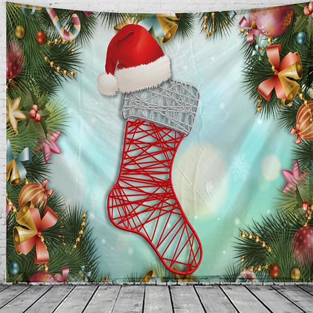Kerstmis / Klassiek Thema Muurdecoratie 100% Polyester Klassiek / Fantasie Muurkunst, 150*100 cm Decoratie