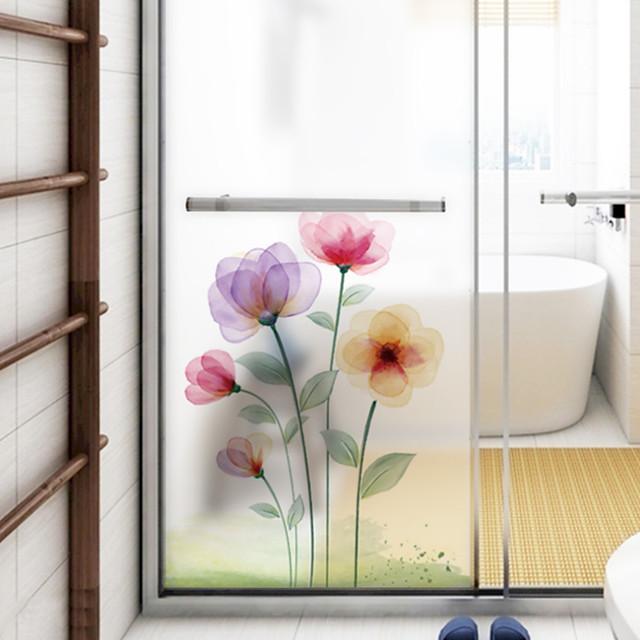 frosted privacy droom bloem patroon raamfolie thuis slaapkamer badkamer glas raamfolie stickers zelfklevende sticker