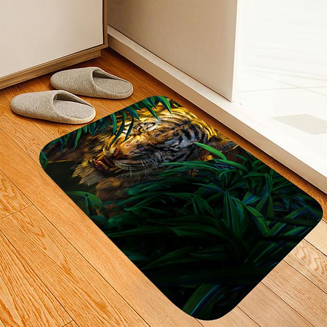 eenogige woeste jungle tijger digitaal printen vloermat moderne badmatten non-woven traagschuim nieuwigheid badkamer