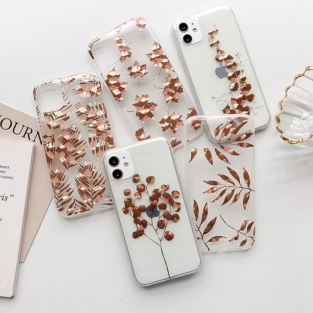 чехол для iphone 11 противоударный / пылезащитный / с подставкой задняя крышка цветок тпу для случая iphone 11 pro / 11 pro max / 7/8 / 7p / 8p / se 2020 / x / xs / xs max / xr