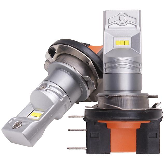 otolampara 2pcs ampoule led h15 phare de route adapté pour volkswagen / ford zes puce double face éclairage 100% en aluminium évacuation de la chaleur 55w can-bus led ampoule drl h15 6 fois voiture