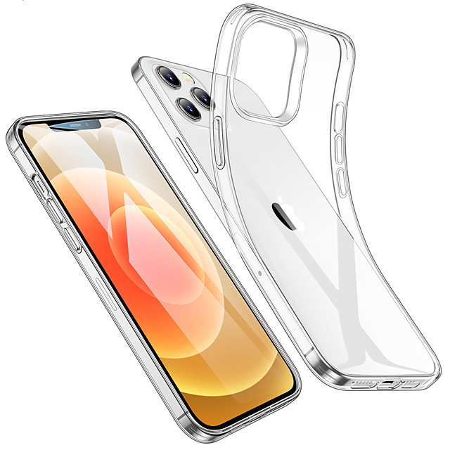 Case For Apple iPhone 12 / iPhone 12 Mini / iPhone 12 Pro Max Shockproof / Water Resistant / Transparent Back Cover Transparent TPU