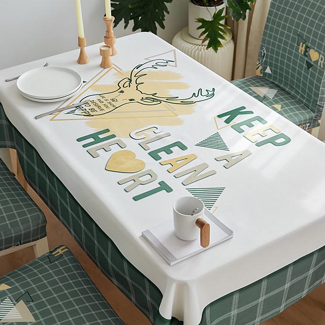 سميكة للماء سماط مربع سماط ديكور المطبخ مستطيلة مفرش المائدة الغزلان 1 قطعة
