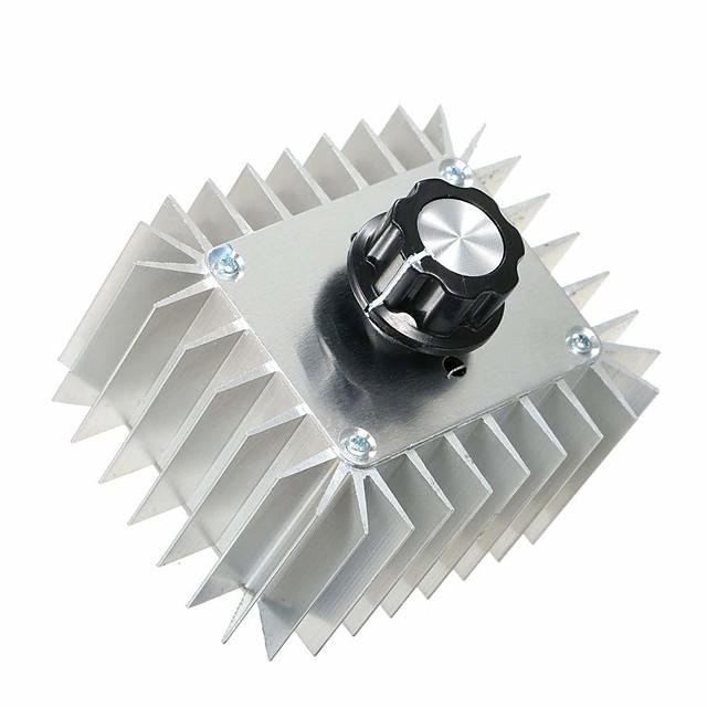 ac 220v 5000w عالية الطاقة المحرك سرعة تحكم scr منظم الجهد الإلكتروني يعتم acomperation thermoregulation module