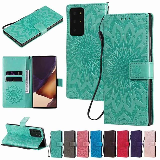 Funda Para Samsung Galaxy Galaxy S20 FE 5G / S9 / S9 Plus Cartera / Soporte de Coche / con Soporte Funda de Cuerpo Entero Un Color / Flor Cuero de PU / TPU