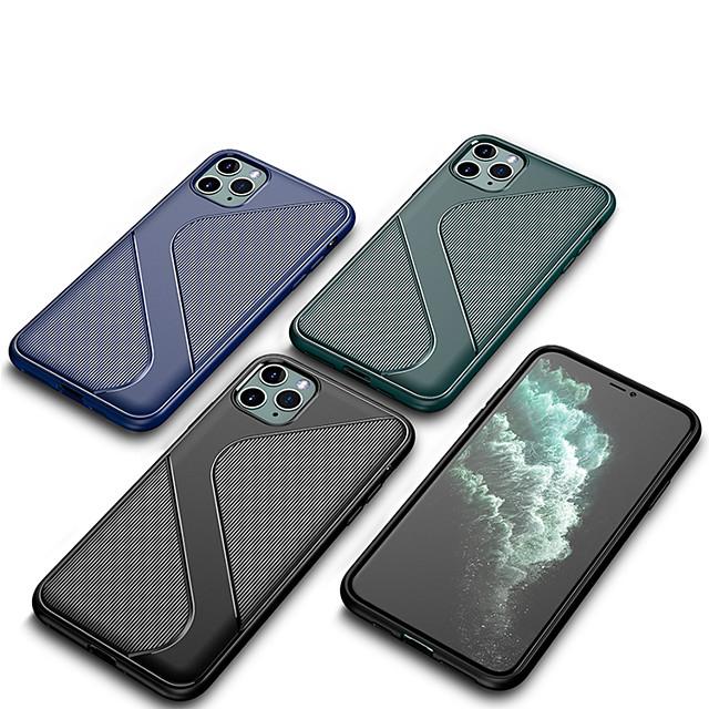 funda para iphone 11 contraportada a prueba de golpes líneas / ondas / tpu de color sólido funda para iphone 11 pro / 11 pro max / xs / xs max / xr / 6 7 8 plus / se 2020