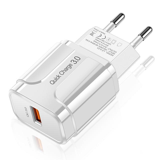 3a quick charge 3.0 usb зарядное устройство ес настенное зарядное устройство для мобильного телефона адаптер для iphone x max 7 8 qc3.0 быстрая зарядка для samsung huawei xiaomi и других