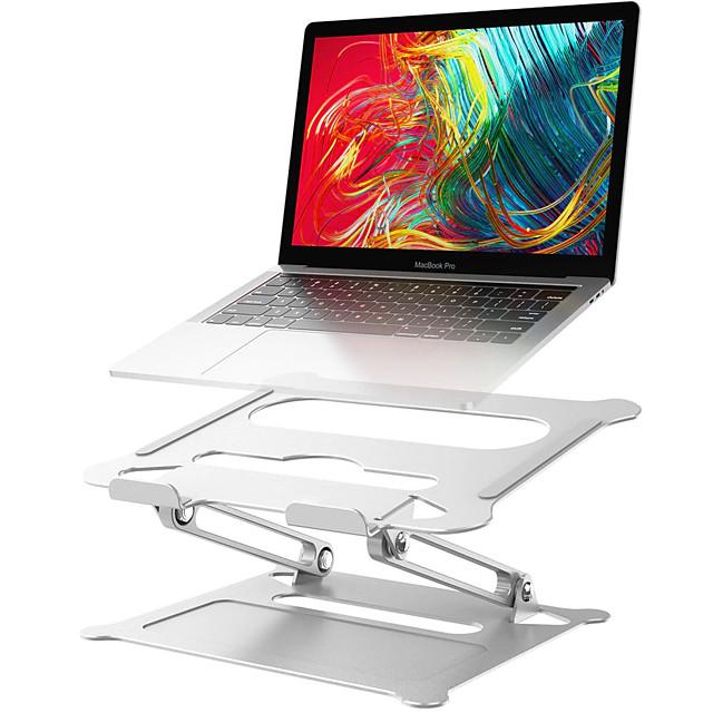 Support d'ordinateur portable réglable en aluminium Support d'ordinateur portable de bureau multi-angle ergonomique avec ventilation thermique pour ordinateur portable Macbook Dell HP Plus 10-17,3