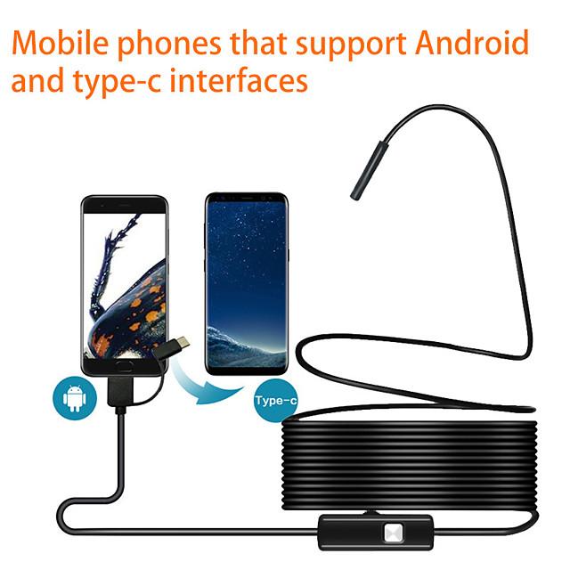 endoscope de téléphone portable android de type-c / mirco usb endoscope industriel de 5,5 mm 10 m