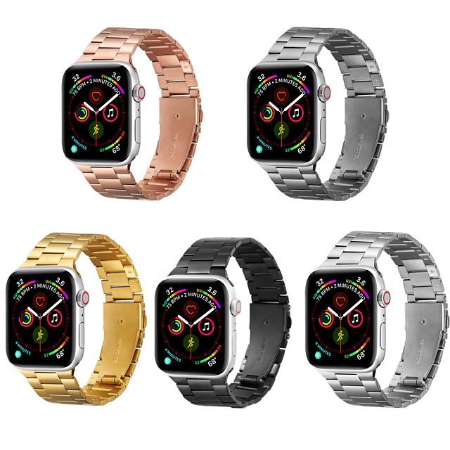 Ремешок для часов для Apple Watch Series 6 / SE / 5/4 44 мм / Apple Watch Series 6 / SE / 5/4 40 мм / Apple Watch Series 3/2/1 38 мм яблоко Бизнес группа Нержавеющая сталь Повязка на запястье