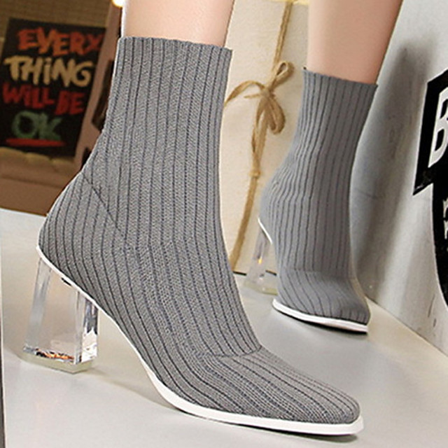Womens Boots Chunky Heel Round Toe Booties Ankle Boots