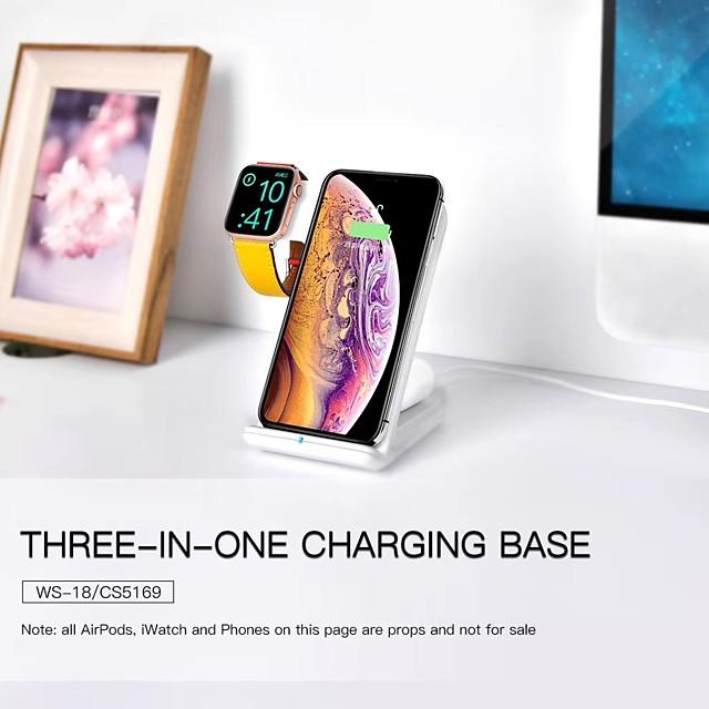 LITBest 2/5/7.5/10 W Puissance de sortie Chargeurs sans fil 3 en 1 Chargeur Sans Fil Qi Kit Chargeur RoHs CE FCC Pour