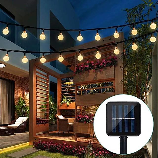 lumière LED solaire extérieure 5m 20led jardin tube lumières étanche led fée lumière pour la fête de mariage patio jardin arbre cour décoration