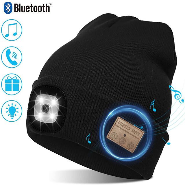 bonnet unisexe avec lampe frontale rechargeable avec 4 LED brillantes avec un faisceau de 3 mètres, se recharge via USB - idéal pour le cyclisme, la course à pied, le camping (style 2)