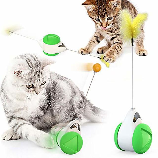 chat chasse jouet équilibre conception de voiture chat jouets interactifs voiture auto-rotative sans batterie jouet pour chat avec chat cataire baguette chasseur amusant puzzle jouet pour chat chaton