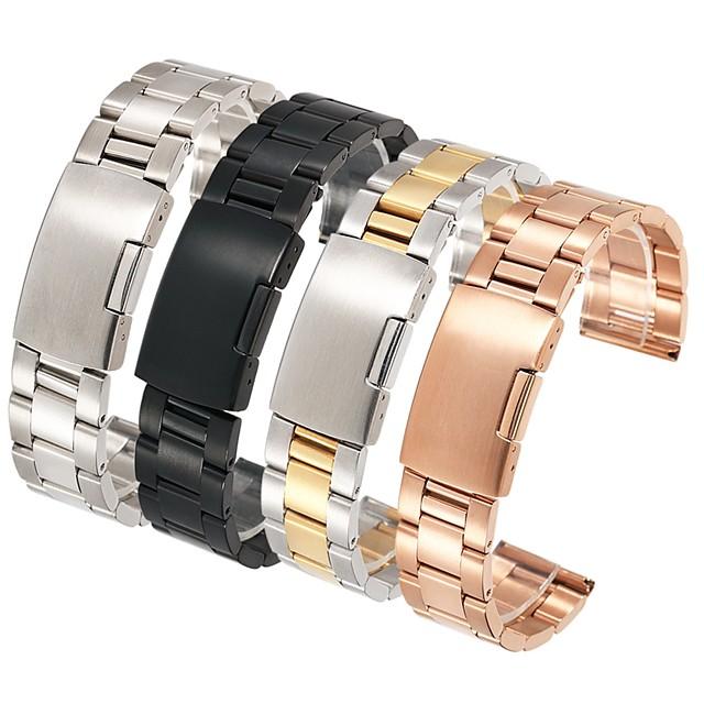 Ремешок для часов для Huawei Watch 2 / Watch 2 Pro / Huami Amazfit Bip Younth Watch TicWatch / Samsung / Amazfit Классическая застежка Нержавеющая сталь Повязка на запястье