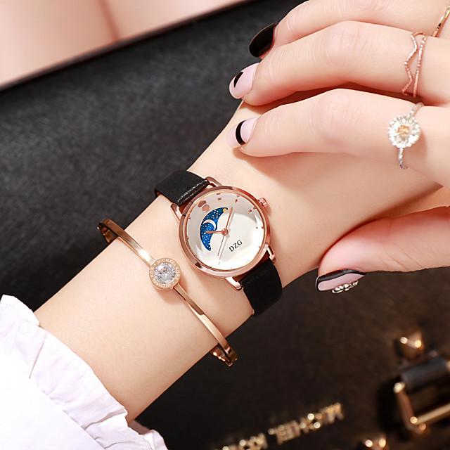 Dames Quartz Horloge Kwarts Stijlvol Modieus Vrijetijdshorloge Analoog Zwart Blozend Roze Oranje / Een jaar / PU-leer