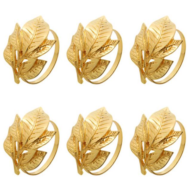 set de 6 inele de șervețel pentru Halloween, Ziua Recunoștinței, Crăciun, petreceri de cină, decorare pentru masă, suport pentru șervețel din metal, realizat manual
