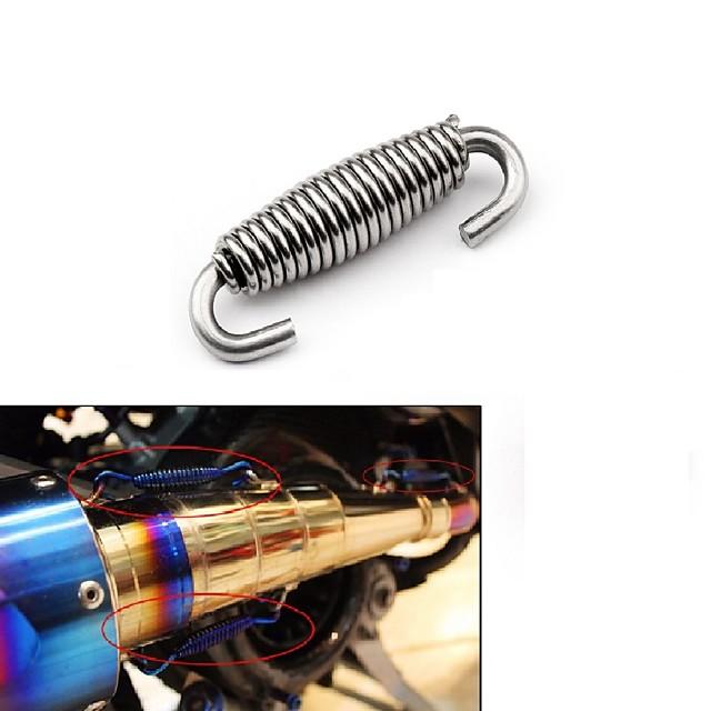 rozsdamentes acél robogó univerzális motorkerékpár kipufogócső hangtompító rugók kampók kipufogó rövid rugó alkatrészek