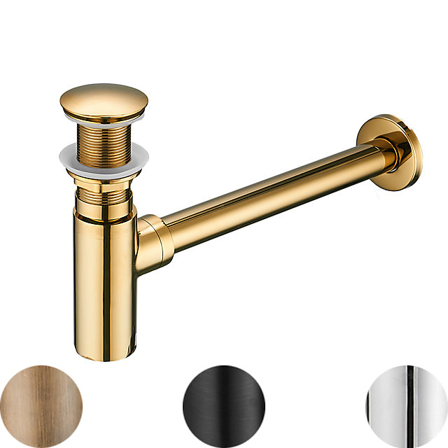 Accessorio rubinetto - Qualità superiore Scarico dell'acqua a scomparsa senza troppopieno Moderno Rame Cromo