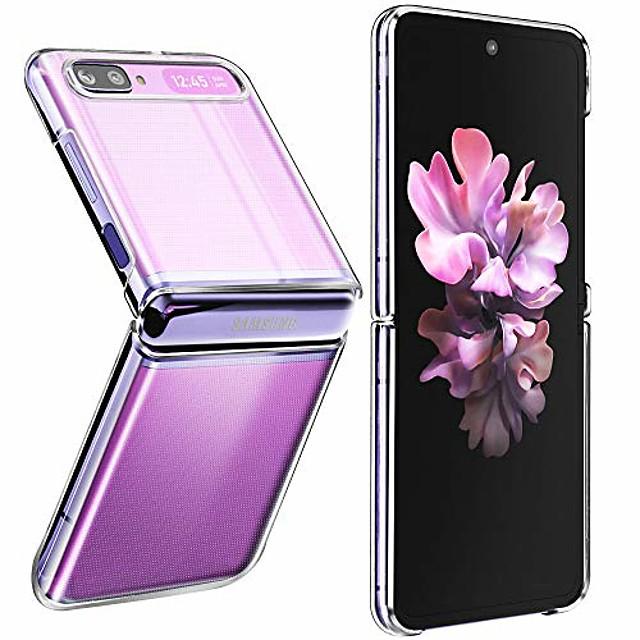 custodia flip per samsung galaxy z (2020), [sottile sottile] in cristallo rigido per pc e custodia morbida in tpu trasparente antiurto custodia per telefono trasparente antigraffio (cristallina)